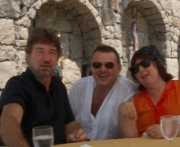 Al with fellow writing tutors Willy and Annie Russell in Turkey