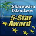 SpotAuditor 5 Stars Award on SharewareIsland.com