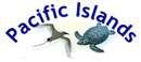 Tropicbird and Sea Turtle - Pacific Islands logo