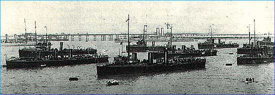 Image: Ships of the Dover Patrol in Dover Harbour.