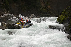 Rafting on California's Salmon River - Cascade Falls Rapid