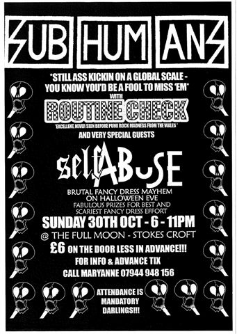 Subhumans-Self Abuse, Bristol 2005
