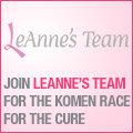 LeAnne's Team - Komen Race for the Cure