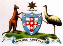 The first official Coat of Arms granted to the Commonwealth of Australia was made by King Edward VII in a Royal Warrant of 7 May 1908