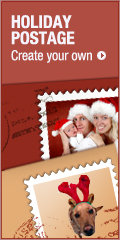 HOLIDAY POSTAGE Create your own >>