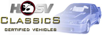 HSV Classics - Certified Vehicles