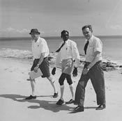 Prime Minister John Gorton with officials at Gove in 1968, during Gorton's visit to the Yirrkala area in western Arnhem Land. NAA: A1200, L77441