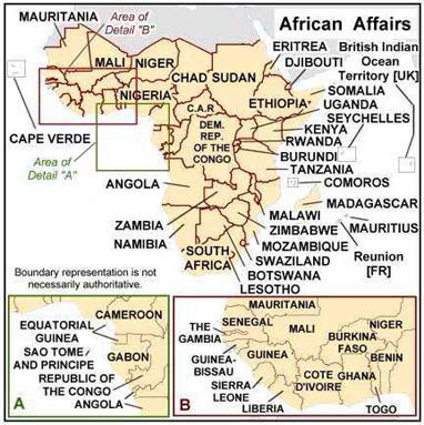 Clickable Map of Africa Region