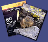 Two issue covers from High Country News