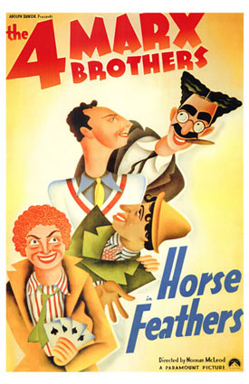 Horse Feathers, starring the Marx Brothers - Groucho, Chico, Harpo and Zeppo