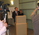 Deputy Secretary Alex Azar gives remarks during a Press Conference regarding Pandemic Preparedness at the State of Alaska Influenza Testing Laboratory in Anchorage, Alaska during a visit to the State.