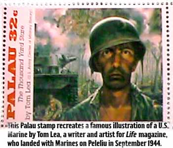 Postage stamp of 'The Thousand Yard Stare'