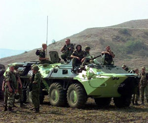 Picture of a BTR-70 Armored Personnel Carrier