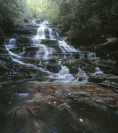 Minnihaha Falls, Rabun County, Georgia. September 2000 Photographed with a Hasselblad ArcBody and 35mm Rodenstock lens on Provia 100F.
