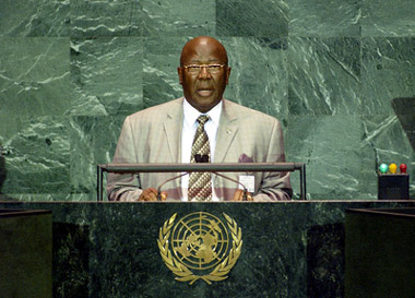 President Kabbah at  high-level meeting of the 60th session of the United Nations General Assembly in New York