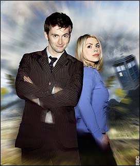 Time travellers: David Tennant as Doctor Who with Billie Piper as Rose