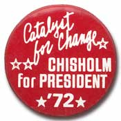 Shirley Chisholm button