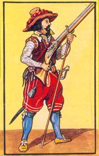 Early 17th century musketeer
