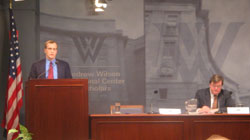 Deputy Assistant Secretary Kramer discusses elections in Belarus and Ukraine at the Wilson Centers Kennan Institute on March 21. [Dept. of State, Bureau of European and Eurasian Affairs photo]