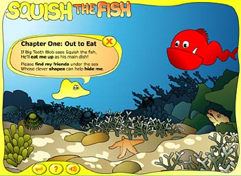 Sample screen from Squish the Fish