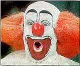 clown picture - Bob Bell, as Bozo the clown, in the final incarnation of his makeup