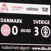 Sweden have been awarded a 3-0 win from the tie at the Parken Stadium