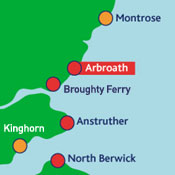 Arbroath, Tayside Map