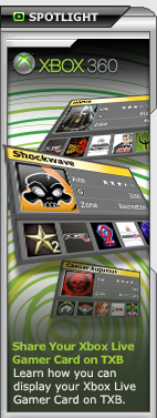 Share Your Xbox Live Gamer Card on TeamXbox