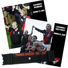 'Hird & Sheedy Farewell' DVD Value Pack PLUS Receive a Complimentary Sheedy Commerative Scarf with Badge (Ess V Rich Rnd 21 & WCE Rnd 22, 2007)