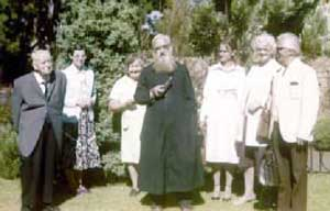 Fr. Gregory Zier with parishioners