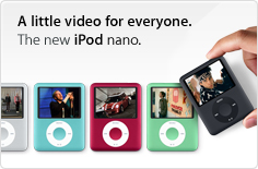 A little video for everyone. The new iPod nano.