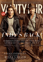 Vanity Fair cover, February 2008, Harrison Ford as Indiana Jones, with Shia LaBeouf