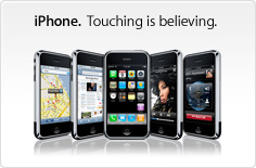 iPhone. Touching is believing.