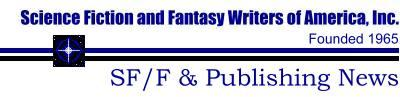Science Fiction and Fantasy Publishing news