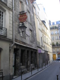 The house of Flamel in Paris, now a restaurant.