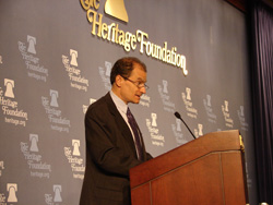 Assistant Secretary Fried delivers remarks at the Heritage Foundation on U.S.-Baltic Relations: Celebrating 85 Years of Friendship.  State Dept. photo