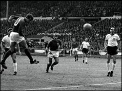 Photograph of Geoff Hurst in action