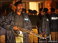 Police on the streets of Islamabad 3/11/07