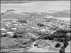 Aerial view of Fawley