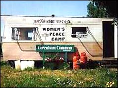 Women's peace camp at Greenham Common
