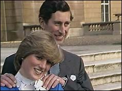 Lady Diana Spencer and Prince Charles announce their engagement