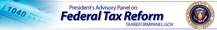 Banner Image: President's Advisory Panel on Federal Tax Reform