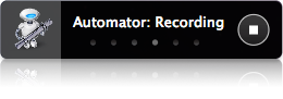 Recording screen in Automator
