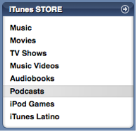 Podcasts directory in iTunes