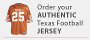 Authentic Texas Football jerseys