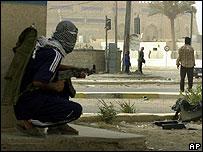 Iraqi insurgents in Ramadi
