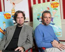 Animated success | Former Daily Trojan cartoonist Dan Povenmire (left) and his partner, Jeff Marsh (right), recently debuted their new animated television show,