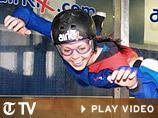 Francisca Kellett tries indoor skydiving, Real Trips