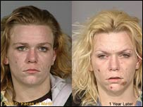 The effects of crystal meth on a woman