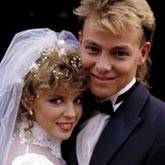 Kylie Minogue and Jason Donovan on Neighbours